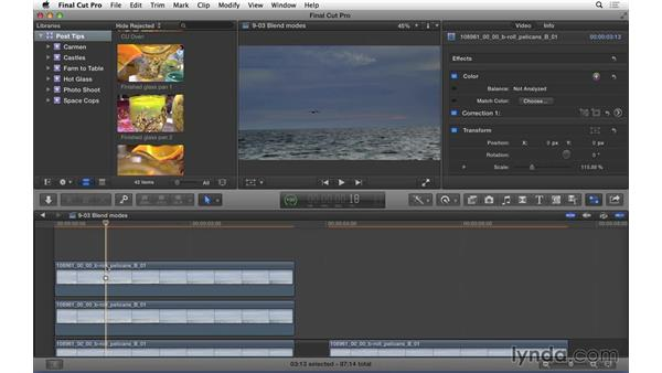Using blend modes to correct overexposure in Final Cut Pro X: Video Post Tips Weekly