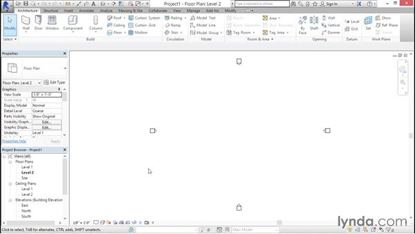 Including levels and grids: Creating Revit Templates: Annotation