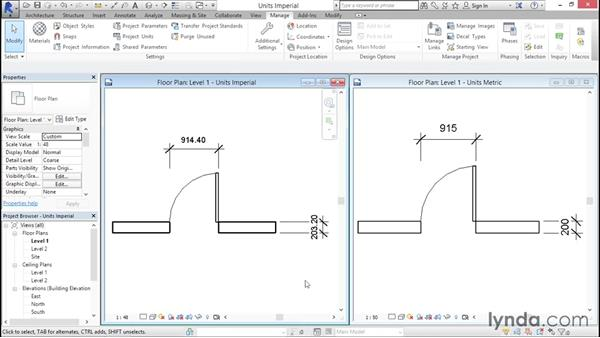 Working with imperial vs. metric units: Creating Revit Templates: Annotation