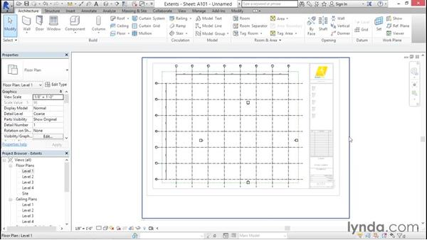 Configuring the extents: Creating Revit Templates: Annotation