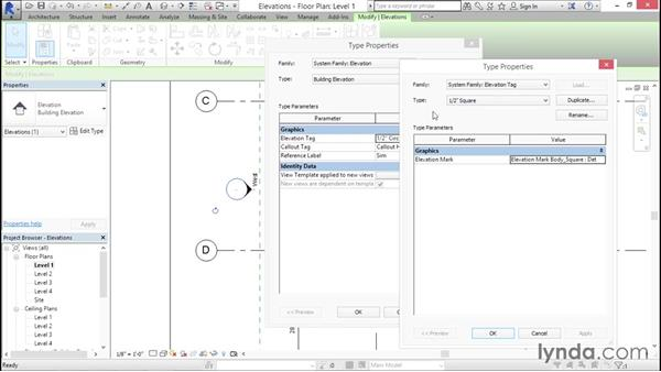 Working with elevation tags: Creating Revit Templates: Annotation