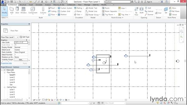 Working with section tags: Creating Revit Templates: Annotation