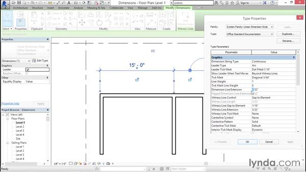 Understanding dimension types: Creating Revit Templates: Annotation