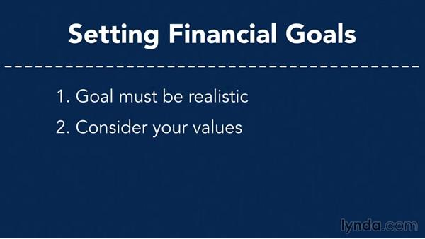Welcome: Setting Your Financial Goals