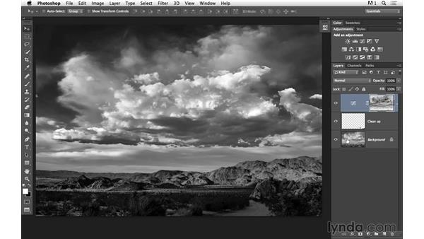 Using an advanced channel mask and curves to improve the sky: Black-and-White Project: Creating a Dramatic Landscape with Lightroom and Photoshop