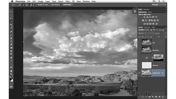 Enhancing the sky with Camera Raw: Black-and-White Project: Creating a Dramatic Landscape with Lightroom and Photoshop
