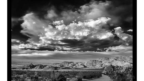 Project review and next steps: Black-and-White Project: Creating a Dramatic Landscape with Lightroom and Photoshop