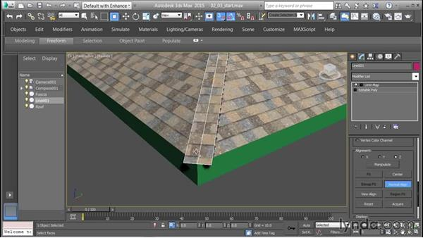 Creating and mapping ridge shingles: 3D Textures: Shingles & Siding