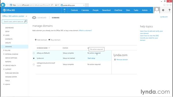 Managing domain names in Office 365: Administration for Cloud-Based Office 365