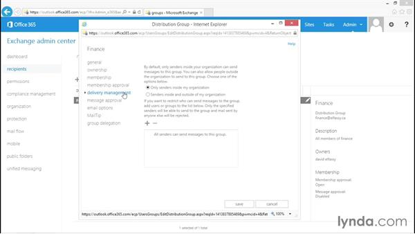 Implementing distribution groups: Administration for Cloud-Based Office 365