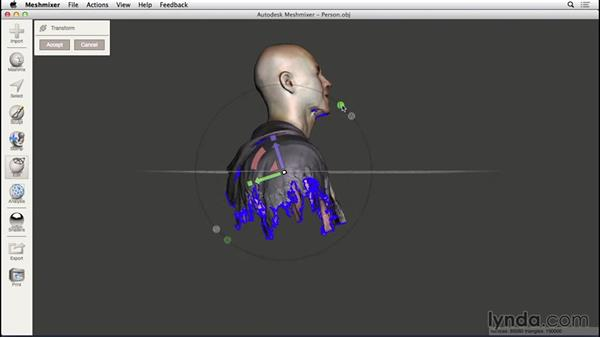 Orienting a model: 3D Scanning a Person