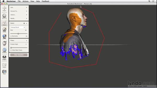 Selecting and erasing: 3D Scanning a Person