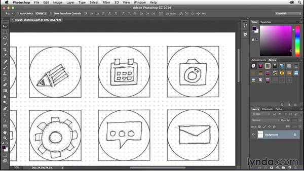 Solution: Sketching your ideas: Creating Icons with Photoshop