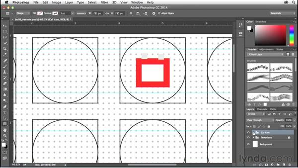 Converting your sketches into vector shapes: Creating Icons with Photoshop