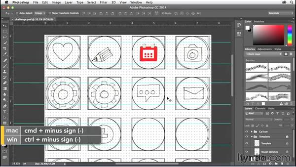 Challenge: Convert your icons to shapes: Creating Icons with Photoshop
