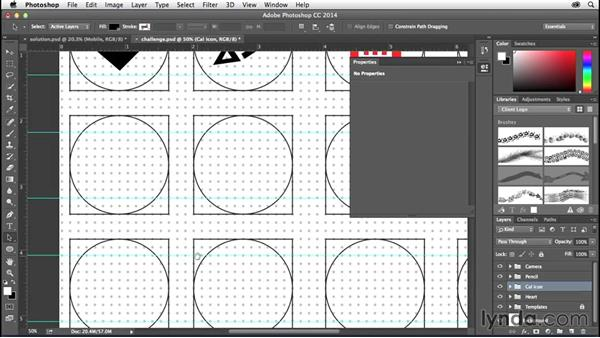 Solution: Convert your icons to shapes: Creating Icons with Photoshop