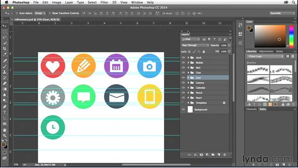 Challenge: Refining your artwork: Creating Icons with Photoshop