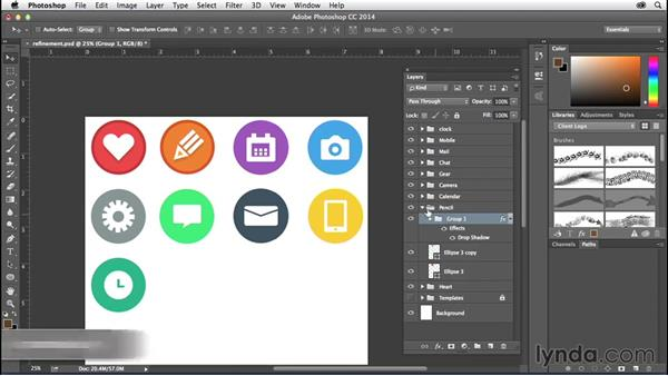 Solution: Refining your artwork: Creating Icons with Photoshop