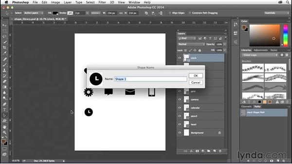 Creating a custom shape set in Photoshop: Creating Icons with Photoshop