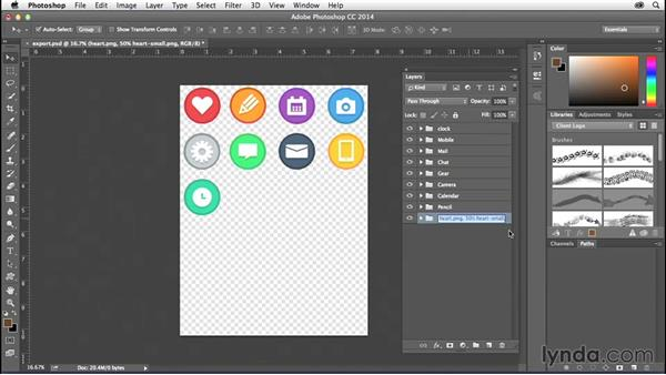 Saving icons with Adobe Generator: Creating Icons with Photoshop