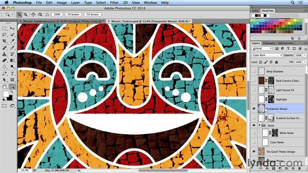Creating an authentic mosaic texture: Creating and Using Textures for Design