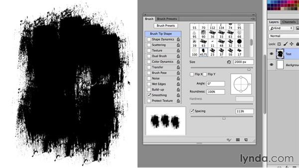 Creating a texture brush in Photoshop: Creating and Using Textures for Design