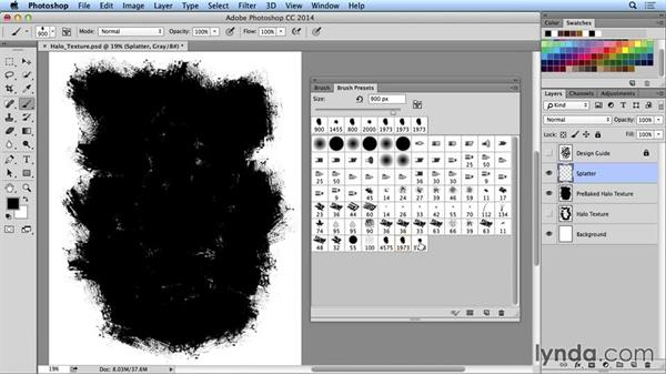 Using a texture brush in Photoshop: Creating and Using Textures for Design