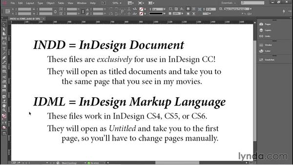 Using the exercise files: Introducing InDesign
