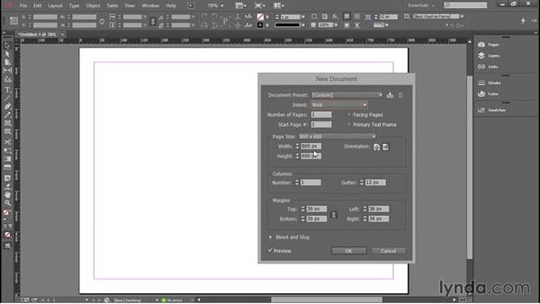 Starting a new document: Introducing InDesign