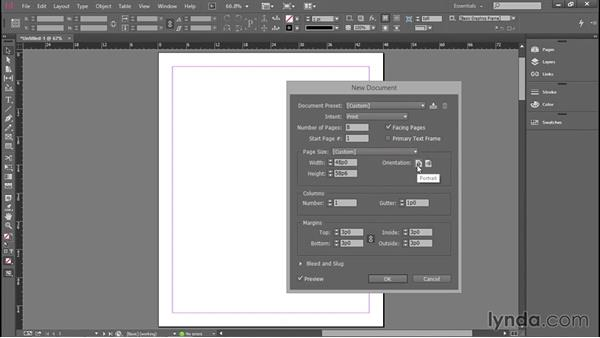 Page size, columns, and margins: Introducing InDesign