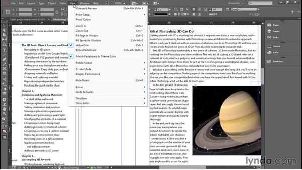 Opening and getting around a document: Introducing InDesign