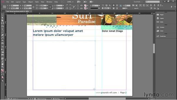 Creating text frames: Introducing InDesign