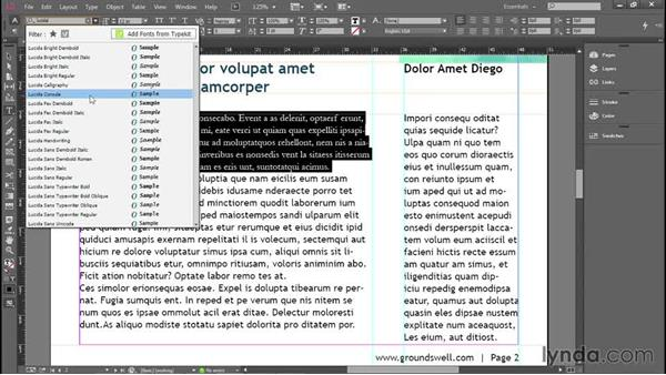 Searching and favoriting fonts (CC and up): Introducing InDesign