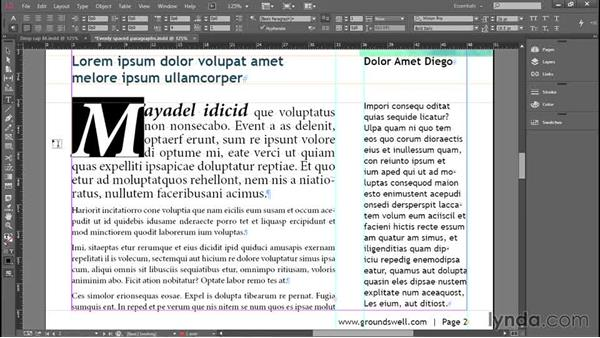 Drop caps, columns, and vertical alignment: Introducing InDesign