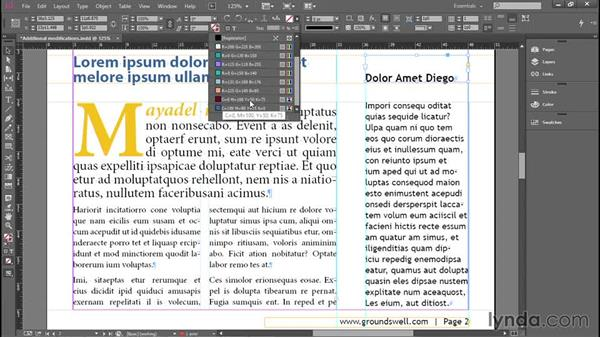 Coloring type and frames: Introducing InDesign