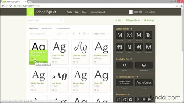 Installing fonts with Typekit (CC and up): Introducing InDesign