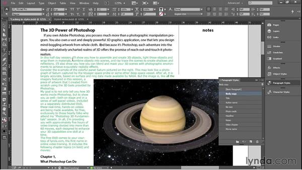 Creating paragraph styles: Introducing InDesign