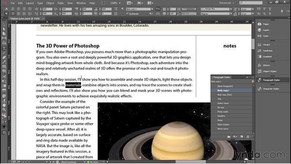 Updating all styled text in one operation: Introducing InDesign