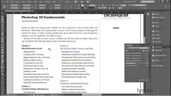 Creating dynamic hyperlinks: Introducing InDesign