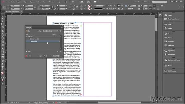 Placing and flowing text: Introducing InDesign