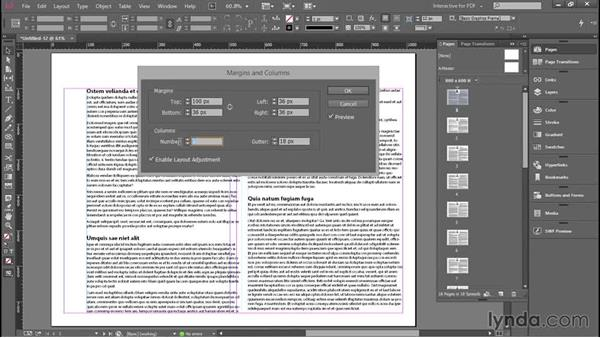 Updating margins and columns: Introducing InDesign