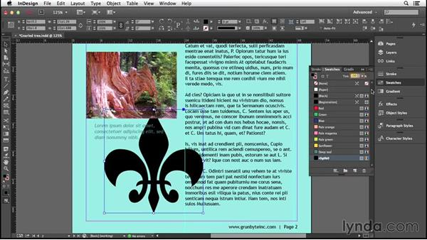Working with color swatches: Introducing InDesign