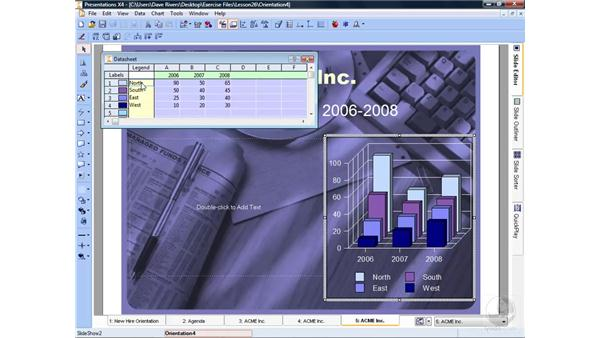 Adding combinations: WordPerfect Office X4 Essential Training