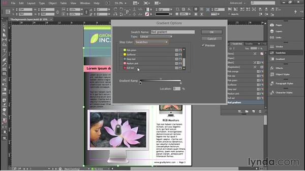 Creating a gradient: Introducing InDesign