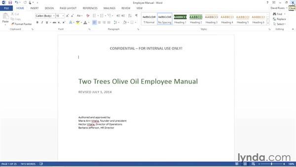 Creating reusable headers in Word: Weekly Office Workshop