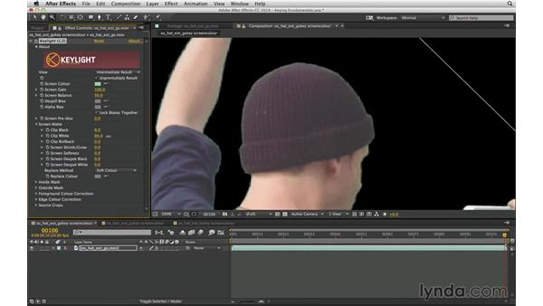 Precisely adjust Clip Black and Clip White in Keylight: After Effects Compositing 04: Color Keying