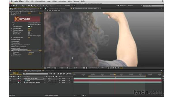 Eliminate spill automatically with Advanced Spill Suppressor: After Effects Compositing 04: Color Keying