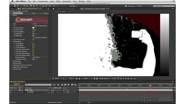 Recognize when and how to divide a matte for keying: After Effects Compositing 04: Color Keying