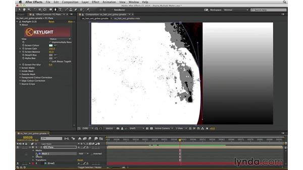 Add a holdout matte: After Effects Compositing 04: Color Keying