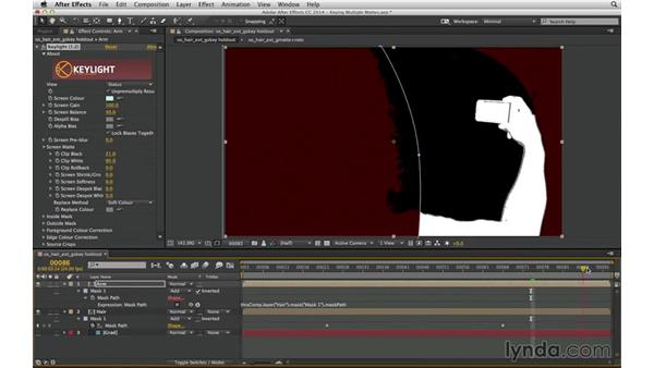 Solve overlapping mattes with Alpha Add: After Effects Compositing 04: Color Keying